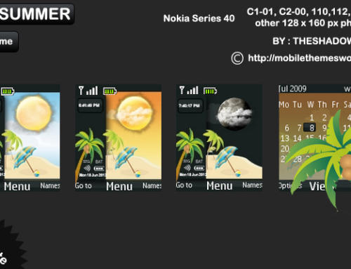 Live Summer theme for Nokia C1-01, C2-00, 110, 112, 2690 & 128 x 160 px phones