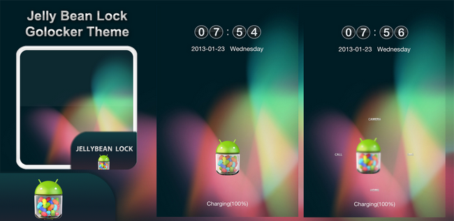 jelly bean go locker theme by theshadow of themebowl