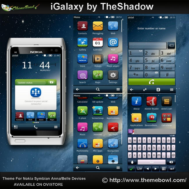 iGalaxy Nokia Theme by TheShadow for Symbian Anna,Belle phones
