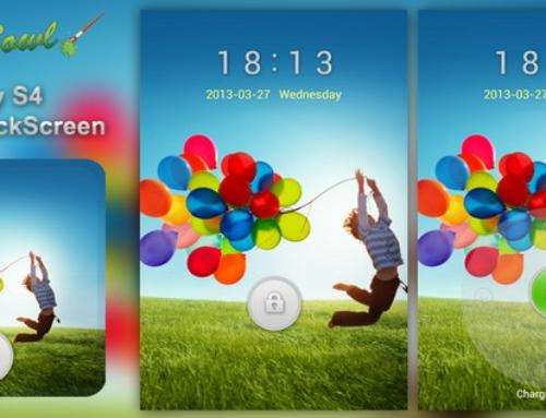 Samsung Galaxy S4 Inspired Lockscreen free Android GoLocker Theme