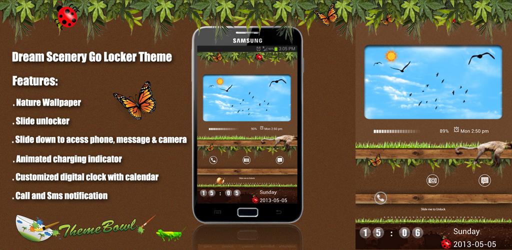 Monkeys Dream Galaxy S4 Go Locker theme