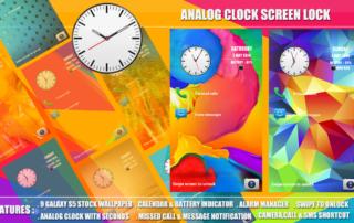 Galaxy S5 Analog Clock Screen Lock android