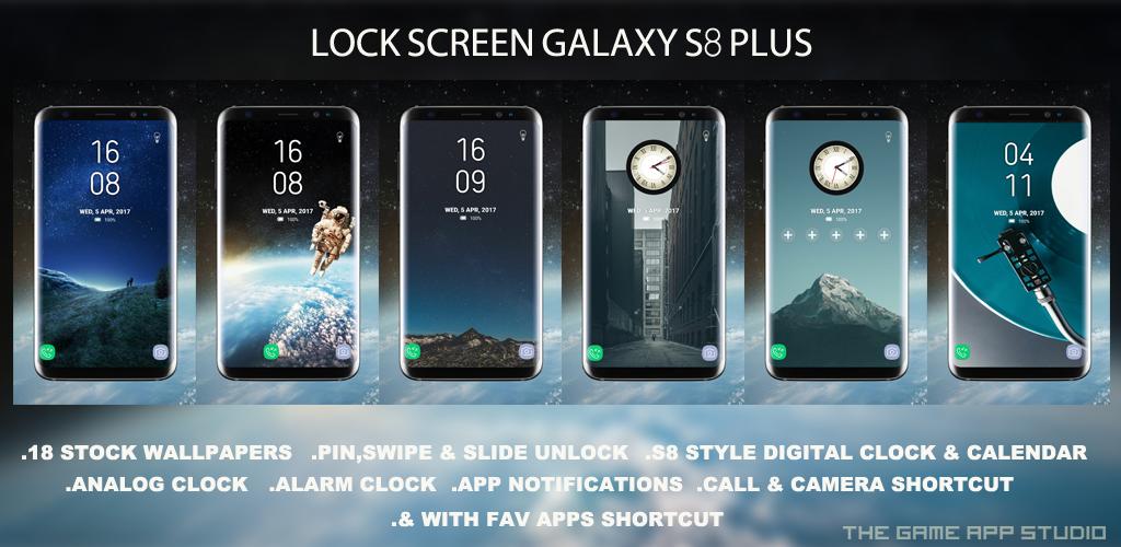 LockScreen Galaxy S8 Plus