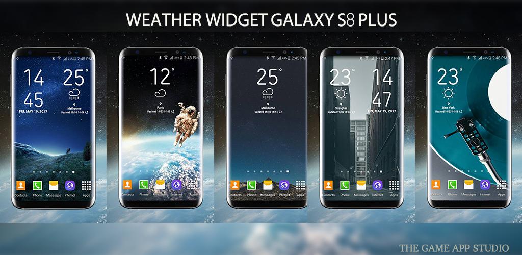 S8 weather Widget app
