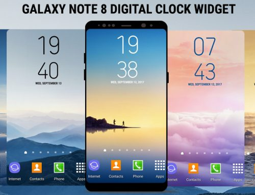 Galaxy Note8 Digital Clock Widget Free and Paid App